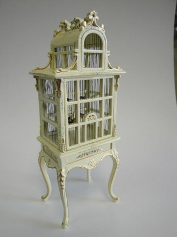 Bird Cage, White with Details, NEW!