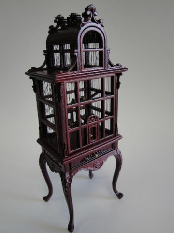 Bird Cage, Mahogany, NEW