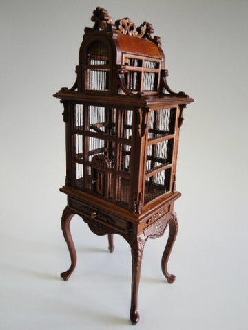 Bird Cage, New Walnut, NEW!