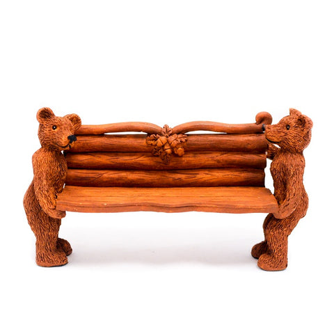 Country Style Bear Bench