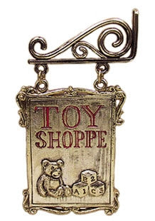 Hanging Toy Shoppe Sign by Jeannetta Kendall