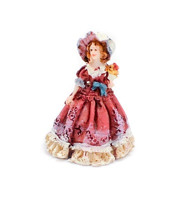 Miniature Figurine of Lady in Victorian Dress
