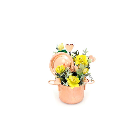 Copper Pot with Flowers, Yellow