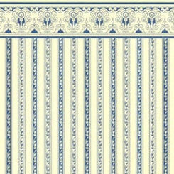 Regency Blue Stripe Wallpaper