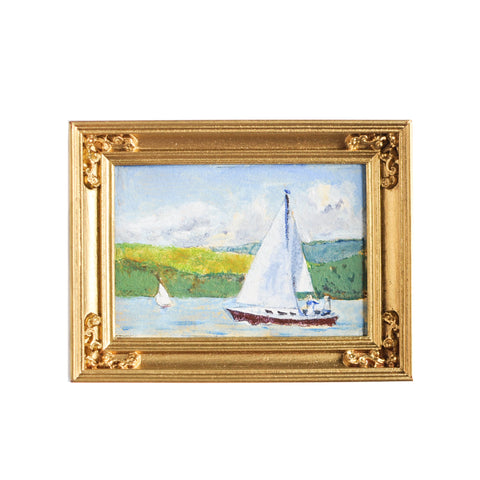 Original Water Color, Sailboat Scene