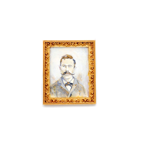 Original Painting, Vintage Gentleman