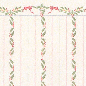 Christmas Holly Stripe Wallpaper
