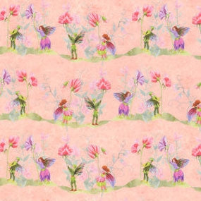Wallpaper, Fairies with Sweet Pea, Pink