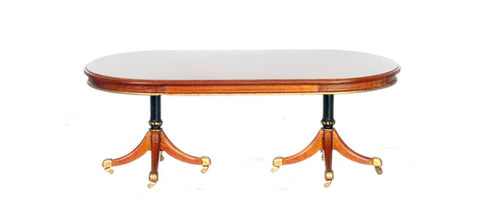 Georgian Style Double Pedestal Dining Room Table Introductory Price