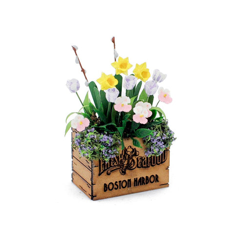 Crate of Spring Flowers