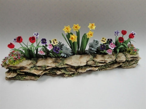Wall Garden with Daffodils, Geraniums and Pansies OUT OF STOCK