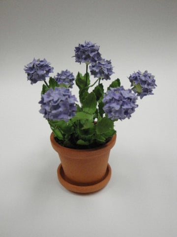Pottedy Hydrangea, Purple, Hand Crafted