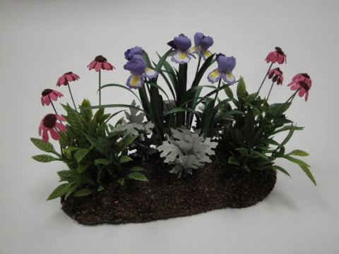 Flower Bed, Iris's and Cone Flowers