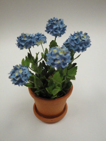 Potted Hydrangea, Blue, Hand Crafted