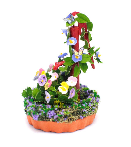Garden Pump with Pansies