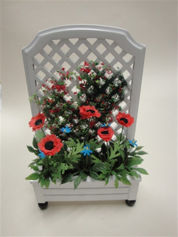 Trellis Planter with Poppies