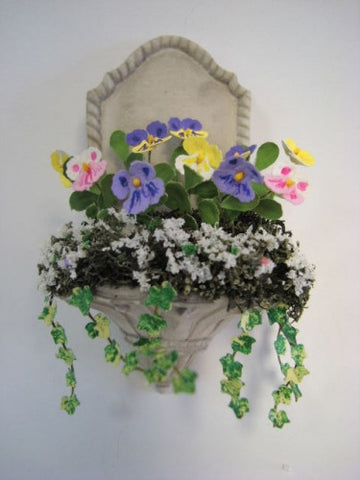 Wall Planter with Pansies