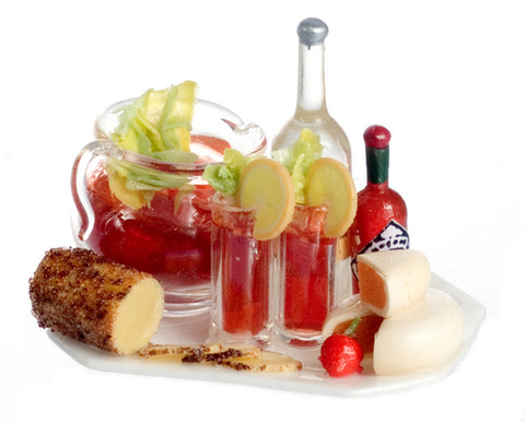 Bloody Mary Serving tray with Cheeses