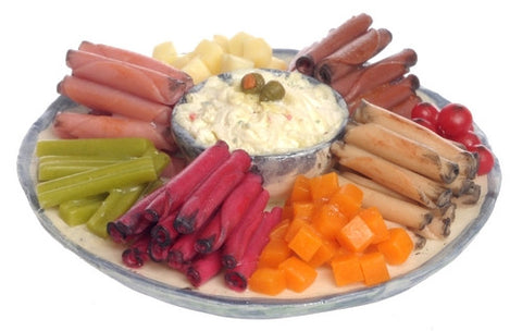 Platter with Assorted Meat and Potato Salad