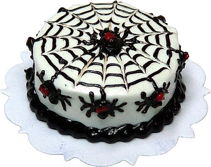 Black Widow Spiders Halloween Cake
