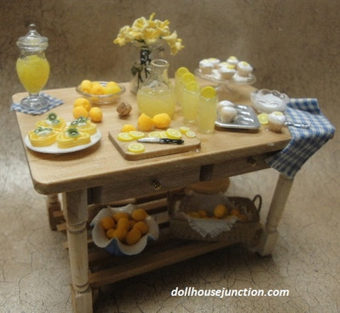 Lemon Delight Kitchen Prep Table Special Order