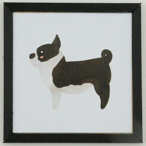 Framed Print with Boston Terrier