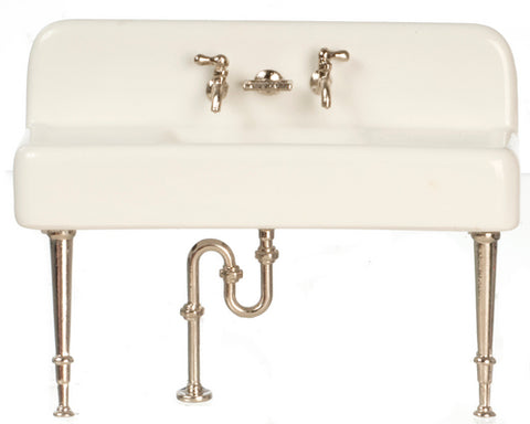 Sink, Porcelain with Metal Legs