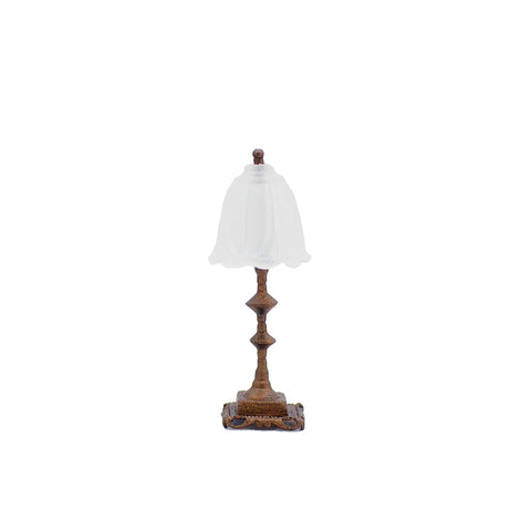 Table Lamp with Frosted Glass Shade