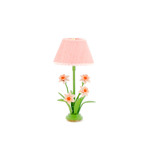 Table Lamp with Daffodils, Pink
