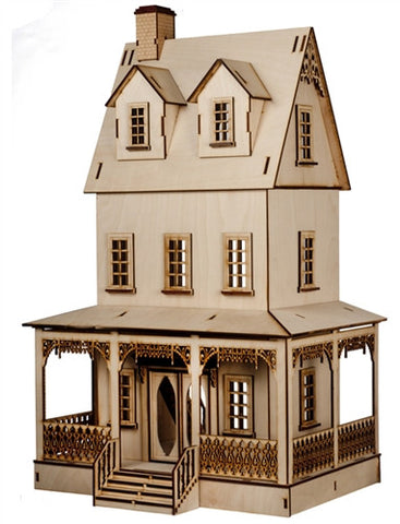 1/4 Scale Abriana Large Country Cottage Dollhouse Kit
