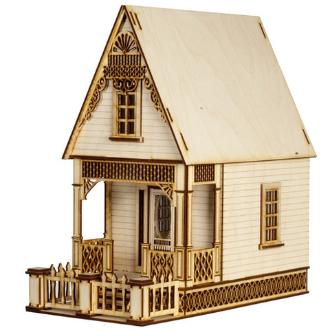 1/4 Scale Little Ann Victorian Cottage Dollhouse Kit