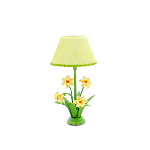 Table Lamp with Daffodils, Green