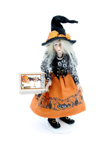 Halloween Witch with Orange Dress