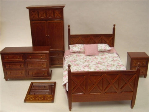 Ashley Bedroom Set, Spice Finish SOLD OUT
