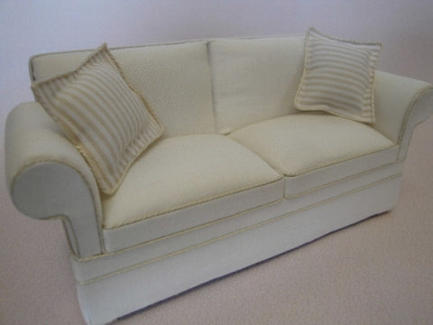 Cara Off White/Stripe Sofa OUT OF STOCK