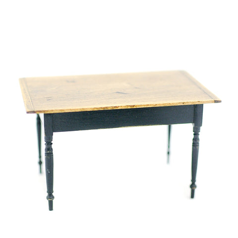 Rustic Kitchen Table with Black Legs