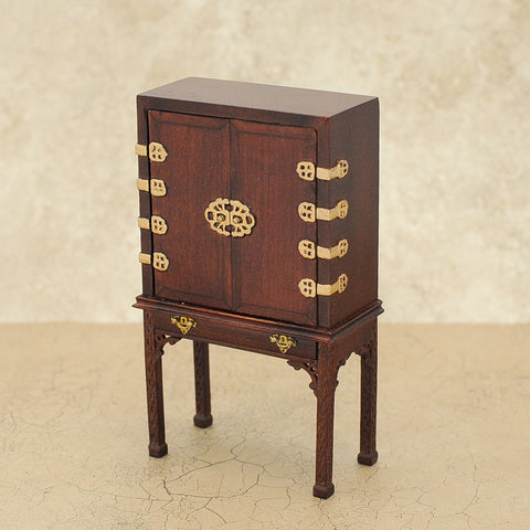 Bespaq Asian Style Cabinet, Mahogany Finish