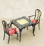 Vintage Bespaq Table and Two Chairs, Oriental Syle