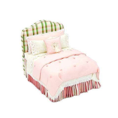 Lorraine Scuderi Bed with padded headboard