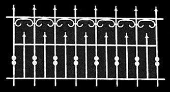 Faux Iron Fence, Laser Cut, Set of Two