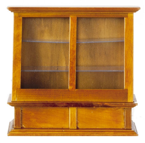 Store Display Case, Tall, Walnut