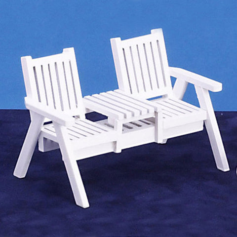 White Lawn Seat for Two
