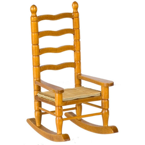 Rocking Chair, Ladderback, Walnut Finish