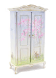 Hand Painted Armoire with Bunny