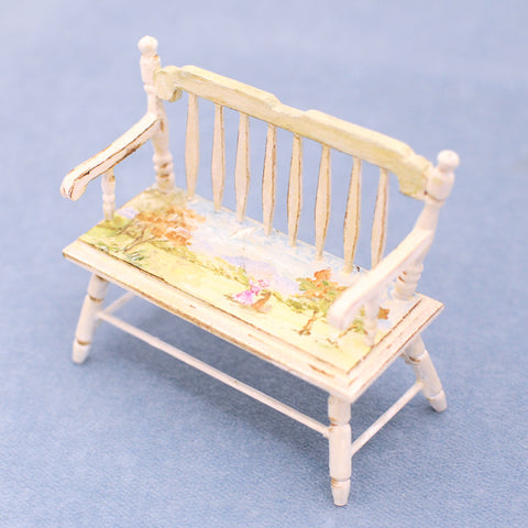 Hand Painted Deacon's Bench