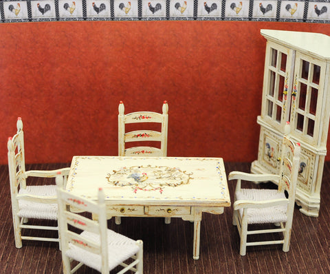 Provincial Dining Room Set with Rooster Theme