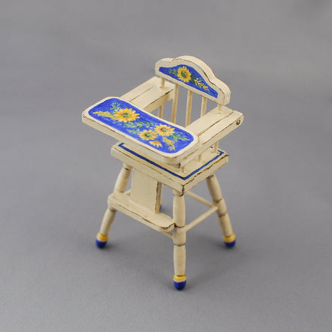 High Chair, Hand Painted with Sunflower