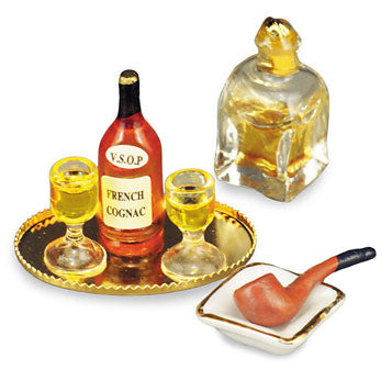 Evening Cognac Set with Pipe