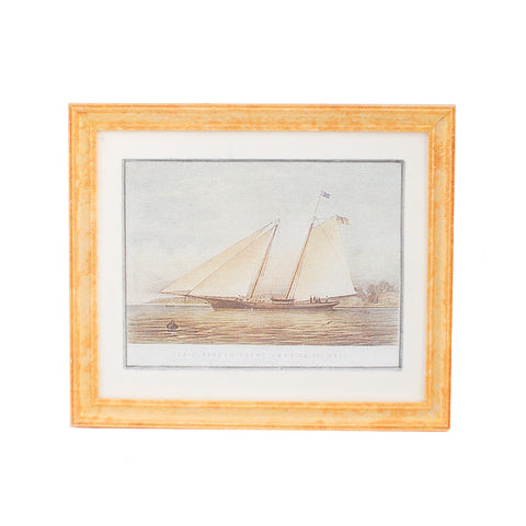 Framed Print with Sailboat