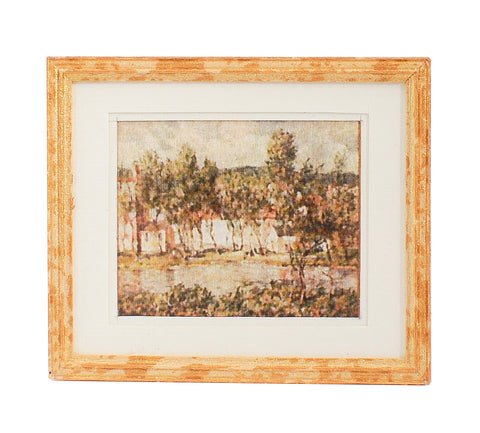 Print, Matted and Framed, Country Home along the River